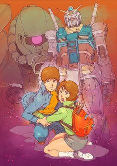 Mobile Suit Gundam: The Originillustration by character designer and key animator Tsukasa Kotobuki(ことぶきつかさ).