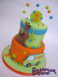 Scooby Doo 2 Tier Cake - Cake by Sam Harrison