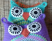 owl crochet cushion / pattern