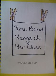 Mrs. Bond hangs up her class - Mrs. McNosh Hangs Up Her Wash
