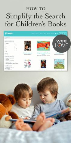 Get personalized suggestions for the best children's books with Zoobean. | weeLove on weeSpring