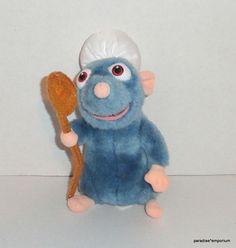 "Disney Store 8"" Remy Plush Ratatouille Little Chef Hat Spoon  #Disneyania #toys #stuffedanimals"