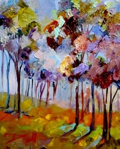 Lavender Trees, painting by artist Delilah Smith