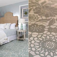 Lace Floral Stencil a gorgeous DIY