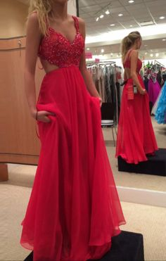 On Sale Appealing Lace Red Prom Dress Red Lace Spaghetti Strap Chiffon Backless Prom Dresses,Red Lace Formal Gowns Red Lace Prom Dress, Straps Prom Dresses, Prom Dresses 2016, Beaded Prom Dress, Backless Prom Dresses, Sexy Dresses, Evening Dresses, Dress Prom, Prom Gowns