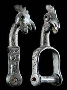 Africa | Pulley from the Bwa  people of  Burkina Faso | ca. early to mid 20th century | Metal, cast in lost wax method.