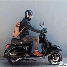 Ninja Black Vespa PX, ride with style Lml Vespa, Vespa Gts, Piaggio Vespa, Vespa Sprint, Vespa Lambretta, Vespa Motorbike, Scooters Vespa, Motor Scooters, Moto Bike