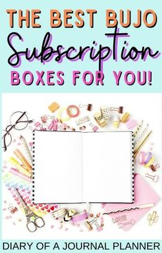 Are you a planner perfect addict looking for monthly planner subscription box ideas? Read our guide to the best planner subscription boxes! #planner #bujo #planneraddict #subscription boxes Bullet Journal Boxes, Bullet Journal Layout Templates, Bullet Journal How To Start A, Erin Condren Life Planner, Monthly Planner, Printable Planner, Best Planners, Day Planners, Day Planner Organization