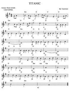 Partitura del Titanic Más Easy Sheet Music, Easy Piano Sheet Music, Saxophone Sheet Music, Violin Music, Cello, Music Chords, Recorder Music, Trumpet Sheet Music, Piano Songs