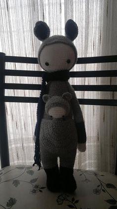 KIRA the kangaroo made by Melina S. / crochet pattern by lalylala