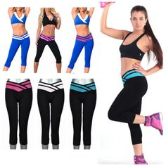 Sexy-Womens-Athletic-Apparel-Cropped-Leggings-Yoga-Gym-Stretch-Pants-S-XL