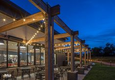 Outdoor Restaurant Patio Lighting Design by McKay Landscape Lighting, Omaha, Nebraska