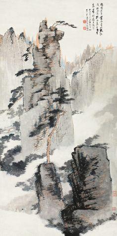 張大千 -《松谷庵五龍潭》               Zhang Daqian (1899-1983)