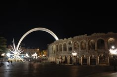 Arena, Verona/Italy, where I have seen grand opera *AIDA* absolutely breathtaking!
