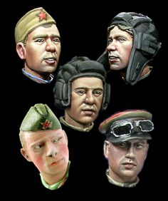 Resin head sets now in stock at highcalibreminiatures.com