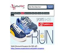 Yebhi discount coupons for shoes - buy sports shoes at 50% off - get discount coupon for this offer at http://www.couponskart.net/yebhi-coupons