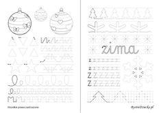 Nauka pisania dla dzieci, z pisane, oraz szlaczki dla dzieci do druku, Anna Kubczak Bullet Journal, Education, Words, School, Anna, Google, Therapy, Paper, Onderwijs