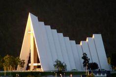 Midnight Sun on Arctic Cathedral Tromsø | Laurie Molsberry | Hurtigruten ASA