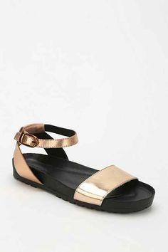 Vagabond Erie Metallic Ankle-Strap Sandal