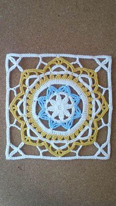 Manta Crochet, Crochet Mandala, Crochet Motif, Diy Crochet, Vintage Crochet, Crochet Doilies, Crochet Flowers, Crochet Blocks, Granny Square Crochet Pattern