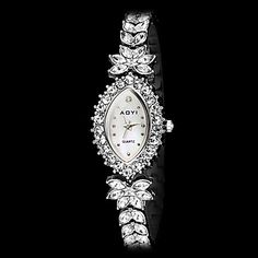 Women's+Fashion+Olivary+Dial+Diamond+Steel+Band+Quartz+Bracelet+Watch+(Assorted+Colors)+–+USD+$+25.99