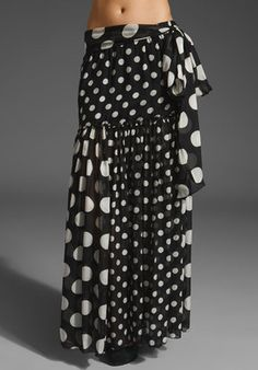 ShopStyle: Lamb Sheer Polka Dot Skirt