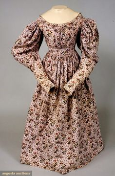 Augusta Auctions, November, 2007 -Tasha Tudor Historic Costume Collection, Lot 111: Quilted Turkey Red Petticoat, France, C. 1840