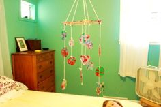 Melted Bead Suncatcher DIY Baby Mobile, just beautiful Fun Crafts To Do, Diy Arts And Crafts, Crafts For Kids, Diy Crafts, Hand Crafts, Paper Crafts, Melted Bead Suncatcher, Melted Bead Crafts, Plastic Bottle Flowers