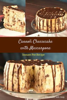 I can't even tell you how AMAZING this cannoli cheesecake was. Well I can. I can't even tell you how AMAZING this cannoli cheesecake was. Well I can. It was AMAZING. Just Desserts, Delicious Desserts, Dessert Recipes, Italian Desserts, Food Cakes, Cupcake Cakes, Cupcakes, Kolaci I Torte, Pressure Cooker Recipes