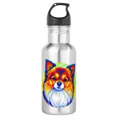 Rainbow Chihuahua Dog Water Bottle merle chihuahua, chihuahua cake, chihuahua silhouette #chihuahuafriendsgye #chihuahuanation #chihuahualovefood, dried orange slices, yule decorations, scandinavian christmas Chihuahua Terrier Mix, Chihuahua Dogs, Dog Water Bottle, Drink More Water, Rainbow, Rain Bow, Rainbows, Chihuahua, Chihuahuas