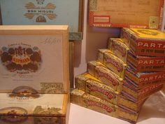 Online veilinghuis Catawiki: Lot van 11 sigarenkisten - 70er jaren