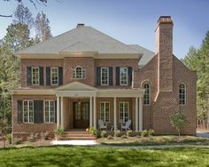 Exterior House Colors With Red Brick triangle bricks old charlotte - traditional - exterior - raleigh