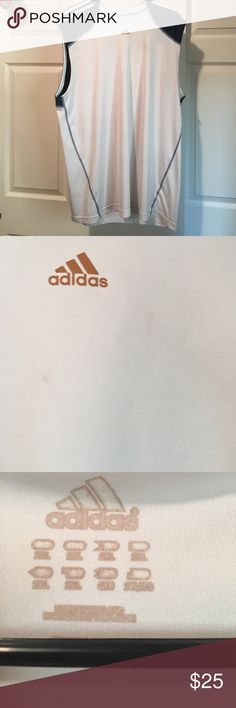 Adidas Men's Tank 2xl Has small faint stains. Easy to get out with bleach. In really good condition. Adidas Shirts Tank Tops