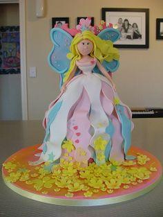Amazing Cakes by Sweet Treacle Unique Cakes, Creative Cakes, Beautiful Cakes, Amazing Cakes, Dolly Varden Cake, Birthday Cake Girls, Birthday Cakes, Fairy Cakes, Dress Cake