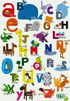 Abecedarios infantiles para imprimir!! Imprimibles gratis http://aprendiendoconjulia.com/2015/03/abecedarios-infantiles-para-imprimir/