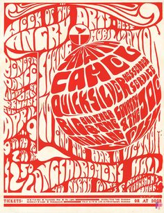 """Known as """"The Week of the Angry Arts"""" poster, this rare item was used to promote a concert to benefit the spring mobilization to end the war in Vietnam. Vintage Concert Posters, Vintage Posters, Psychedelic Rock, Psychedelic Posters, Retro Poster, Kunst Poster, Tour Posters, Vintage Rock, Grateful Dead"""