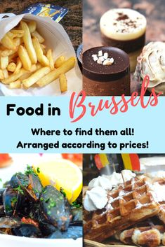 All the food places and restaurants in Brussels that you need to know before going to Brussels! Recommended by locals, this post breaks down all the restaurants according to the different price range so you could enjoy food in Brussels without worrying too much about the cost! #foodinbrussels #brusselstravel #europeitinerary #foodie #europe