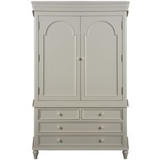 Hazelwood Home English-Style 2 Door Wardrobe
