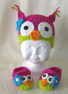 Crochet pattern for owl baby cocoon papoose amp hat in 3 sizes u k u s