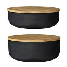 Pot de conservation en céramique et Bambou (par 2) Bloomingville