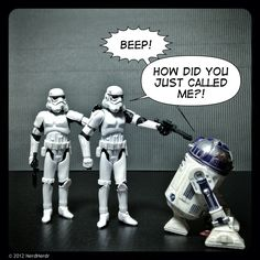 Star Wars would have been much better if they didn't bleep out all of R2-D2's swear words.