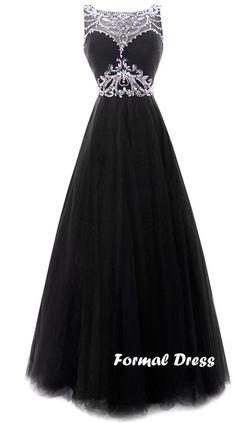 Black long prom dress #promdress #prom #promdresseslong