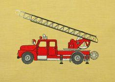 Feuerwehrauto Stickdatei