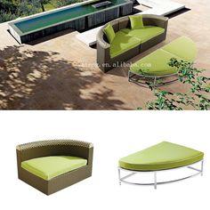 Cómodo patio sofá set all weather mimbre al aire libre muebles de jardín con el amortiguador