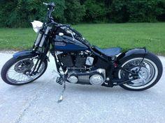 Harley Davidson Badboy Springer Bobber White Wall