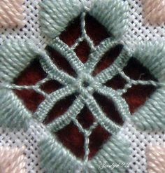 Whitework Embroidery: Hardanger Ornament Part II