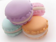 Macaroon Mold Resin Clay Fake Food Diy Jewelry by WhysperFairy, $6.95