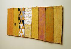 George Mason   Kin  Plaster, pigment, burlap, casein, encaustic