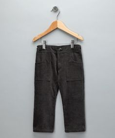 Gray Corduroy Simple Pants by anaïs & I