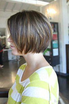 hair styles for short hair. Highlights for brown hair!